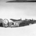 B-24 with the 566th Bombardment Squadron, 389th Bombardment Group. (Paul Wilson collection)