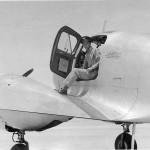Cadet Keeffe in a twin-engine Curtiss AT-9 trainer, Yuma Army Air Field, Arizona. (Keeffe collection)