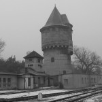 Train station at Sagan, Germany where Lt. Keeffe and other POWs disembarked for a short march to the main POW camp called Stalag Luft III. (Author's collection)