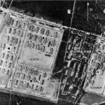 Aerial reconnaissance photo of Stalag Luft III taken 17 Sept. 1944. Lt. Keeffe is in Center Compound. (Courtesy of U.S.Air Force Academy Archives)